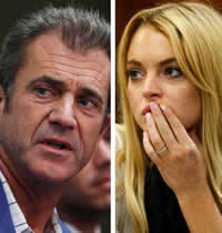 Lindsay Lohan & Mel Gibson
